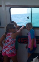 Fun on the boat over