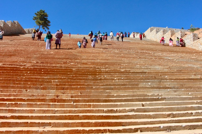 The steps to Buddha Point