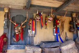 Local festival masks