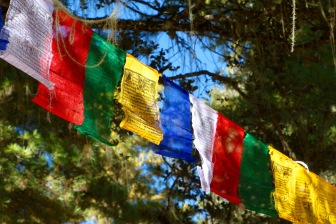 Prayer flags hanging