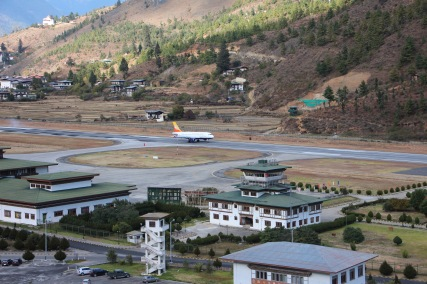 Flying in to Bhutan - a fantastic experience in itself
