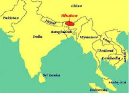 map-of-bhutan