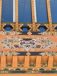 Painting on building - Paro airport