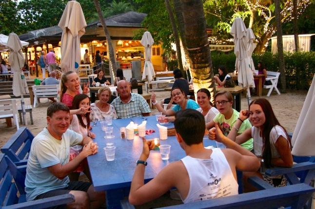 dinner at coastes, Singapore